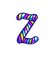 carnival candy cane font vector image vector image