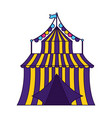 carnival tent circus garland vector image vector image