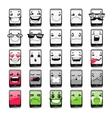 Cartoon Phones Emoticons vector image vector image