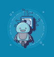 cartoon robot icon vector image
