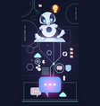 chatbot robot technology chatter bot answer vector image vector image
