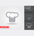 chef hat line icon with editable stroke with vector image vector image