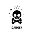 chemical hazard sign flat vector image
