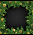 christmas holiday greeting card frame template of vector image