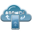 cloud service icon vector image vector image