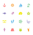 colorful simple flat icon set 9 vector image vector image
