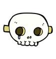 comic cartoon skull mask vector image vector image