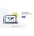 concept seo with character modern conceptual vector image