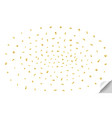 confetti golden and tiny falling on transparent vector image vector image