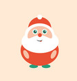 cute and happy modern smiling santa clause art vector image vector image