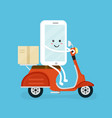 cute smiling happy smartphone mobile vector image vector image