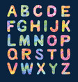 decorative color alphabet vector image vector image