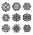 Decorative Mandalas Set vector image vector image