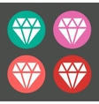 diamond in colorful circles icons set vector image