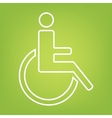 Disabled line icon vector image vector image