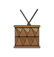 doodle wood drum musical object play vector image