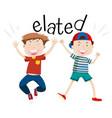 english vocabulary word elated vector image
