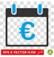 Euro Calendar Day Eps Icon vector image vector image