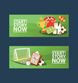 footbal equipment banners vector image