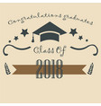 graduation class of two thousand eighteen vector image vector image