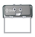 grinning with board button shift isolated with the vector image vector image