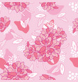hand drawn floral elements collection leaves vector image vector image