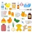 Influenza flu icons set vector image vector image