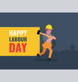 international labour day flat background vector image vector image