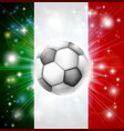 italy soccer flag vector image vector image