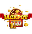 jackpot background casino slot winner sign vector image