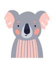koala cute animal baby face vector image vector image