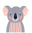 koala cute animal baface vector image