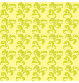light green floral seamless background vector image