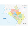 lima center area administrative and political map vector image vector image