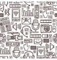 Media sketch seamless pattern vector image vector image