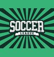 modern professional emblem soccer for vector image vector image