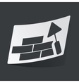Monochrome building wall sticker vector image vector image