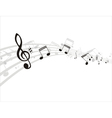 music note background design vector image vector image