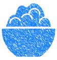 porridge bowl grunge icon vector image