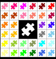 puzzle piece sign felt-pen 33 colorful vector image vector image