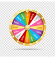 realistic 3d detailed casino fortune wheel on a vector image