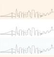san francisco hand drawn skyline vector image