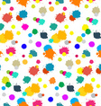 Seamless Colorful Splashes Pattern on White vector image