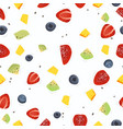 seamless fruit dessert pattern design vector image