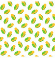 seamless pattern with corn in flat style vector image