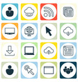 set of 16 world wide web icons includes login vector image vector image
