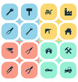 set of simple wrench icons vector image vector image