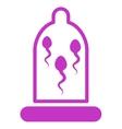 Sperm In Condom Icon vector image vector image