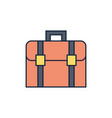 suitcase luggage summer icon line and fill vector image vector image