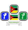 symbol of MOZAMBIQUE vector image vector image